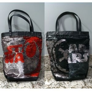 Disney Star Wars Logo Tote Bag Reversible Sequin